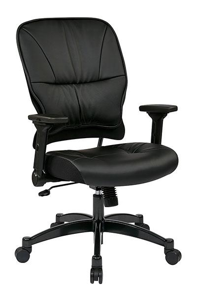 Faux Leather Back Ergonomic Task Chair Seat Slider 300 Lb